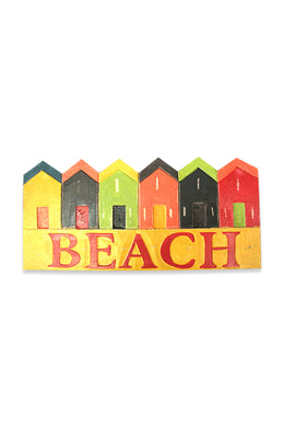 Colourful Beach Huts Sign