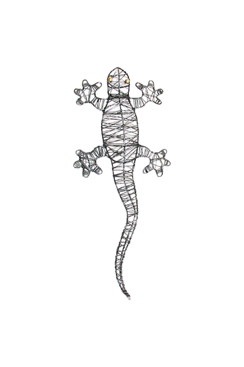 Wrapped Wire Gecko Wall Art