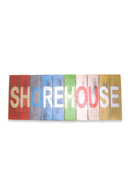 Wooden Shorehouse Letters Sign