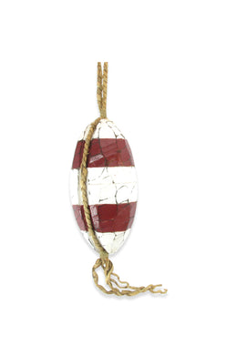 Red & White Hanging Float Ornament