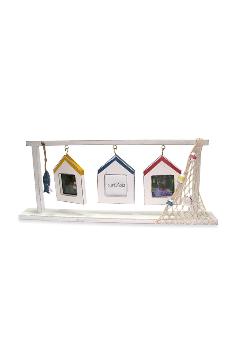 3 Houses Hanging Photo Frame