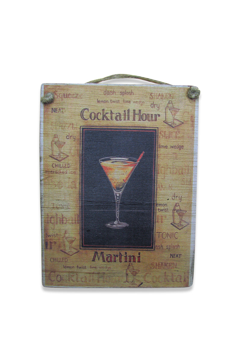 Cocktail Hour Wall Plaque