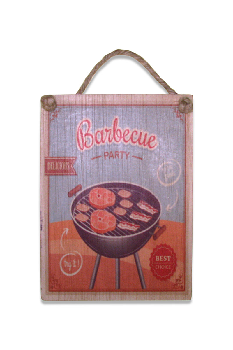 BBQ Party Wall Plaque