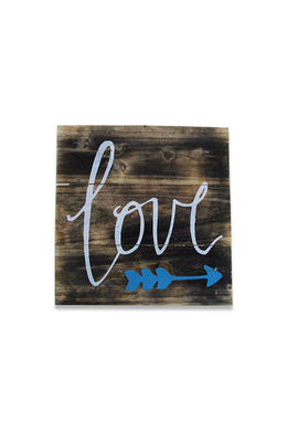 Blue Love Arrow Sign
