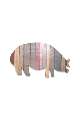Rainbow Stripe Pig Sign