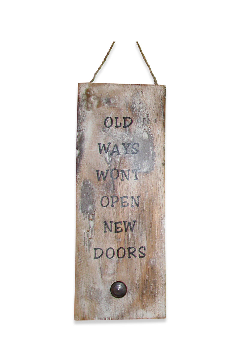 Old Ways Wall Plaque