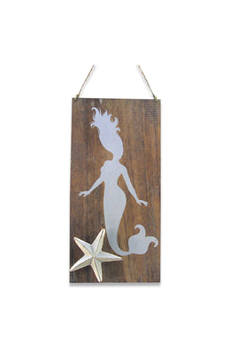 Starfish Mermaid Wall Hanging