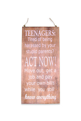 Teenagers Wall Plaque