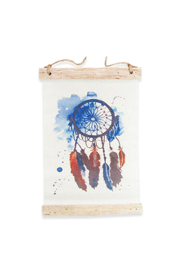 Dreamcatcher Watercolour Canvas Hanging