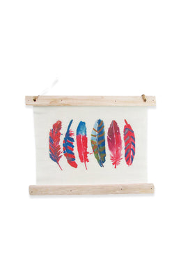Six Feathers Canvas Wall Art