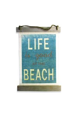 Good Beach Life Fabric Wall Hanging