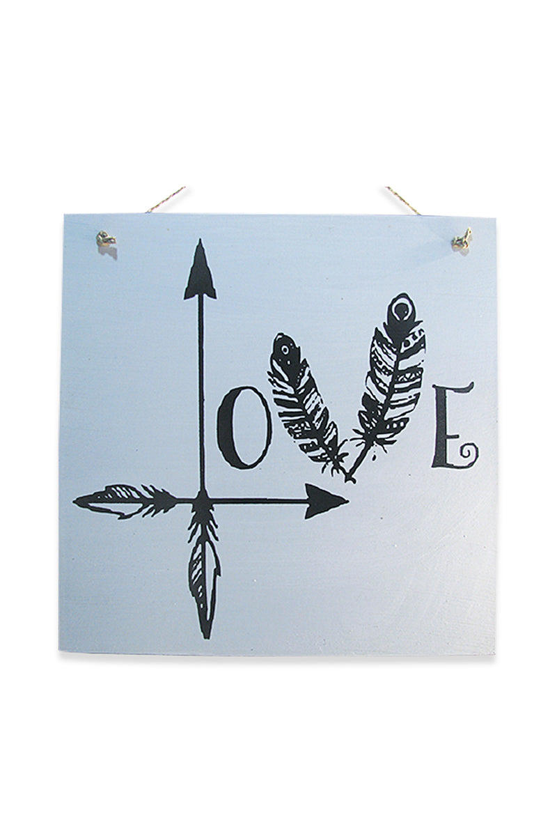 Arrow Love Wall Plaque