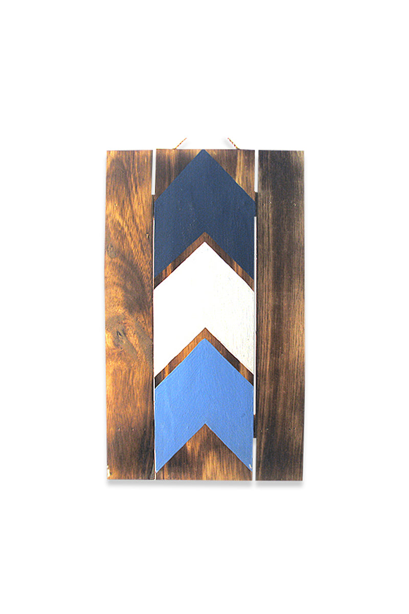 Blue Arrows Wall Plaque