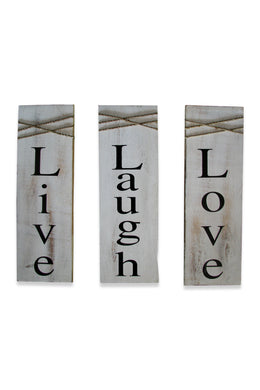 Love Laugh Love Wooden Plaques