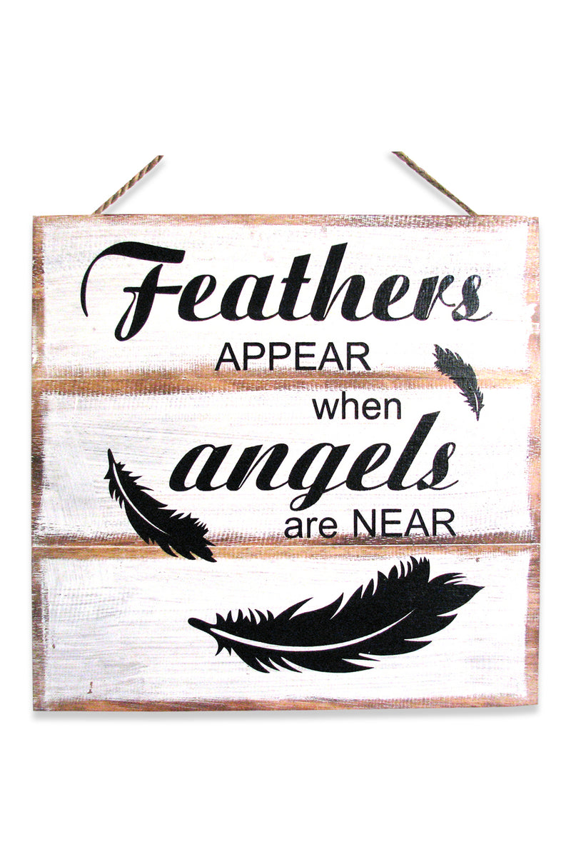 Feathers Appear Angel Wall Plaque