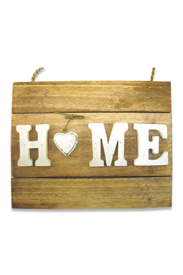 Home Heart Wooden Wall Plaque