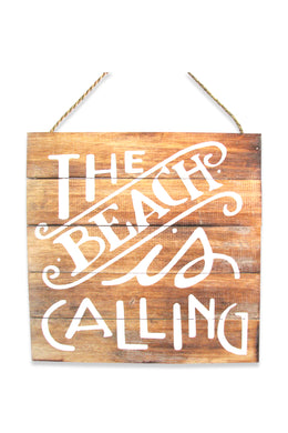The Beach is Calling Wall Plaque