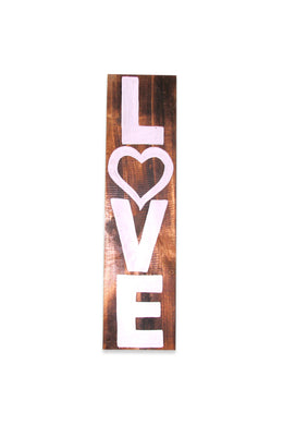 Love Natural Timber Wall Plaque