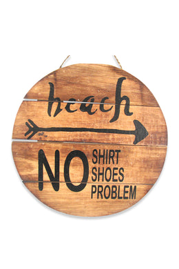 No Problem Beach Wall Plaque