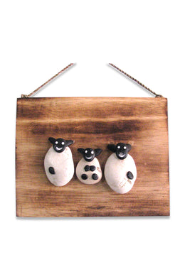 Stone Sheep Family Sign