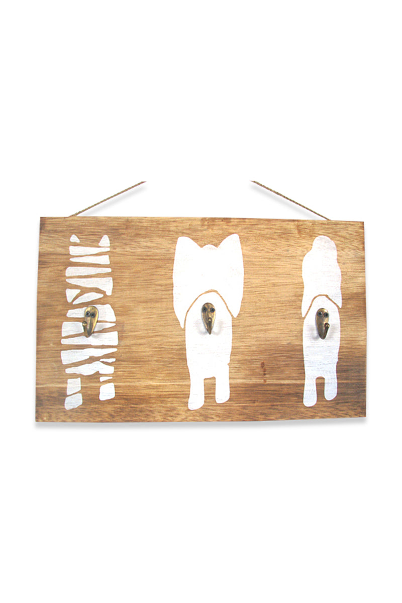 African Animal Tail Hooks Plaque