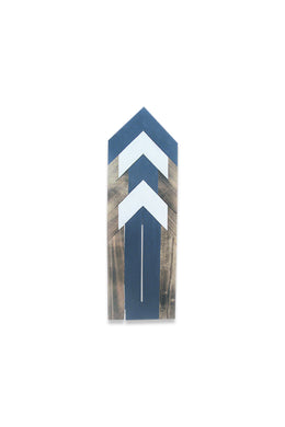 Blue Arrow Pattern Wall Plaque