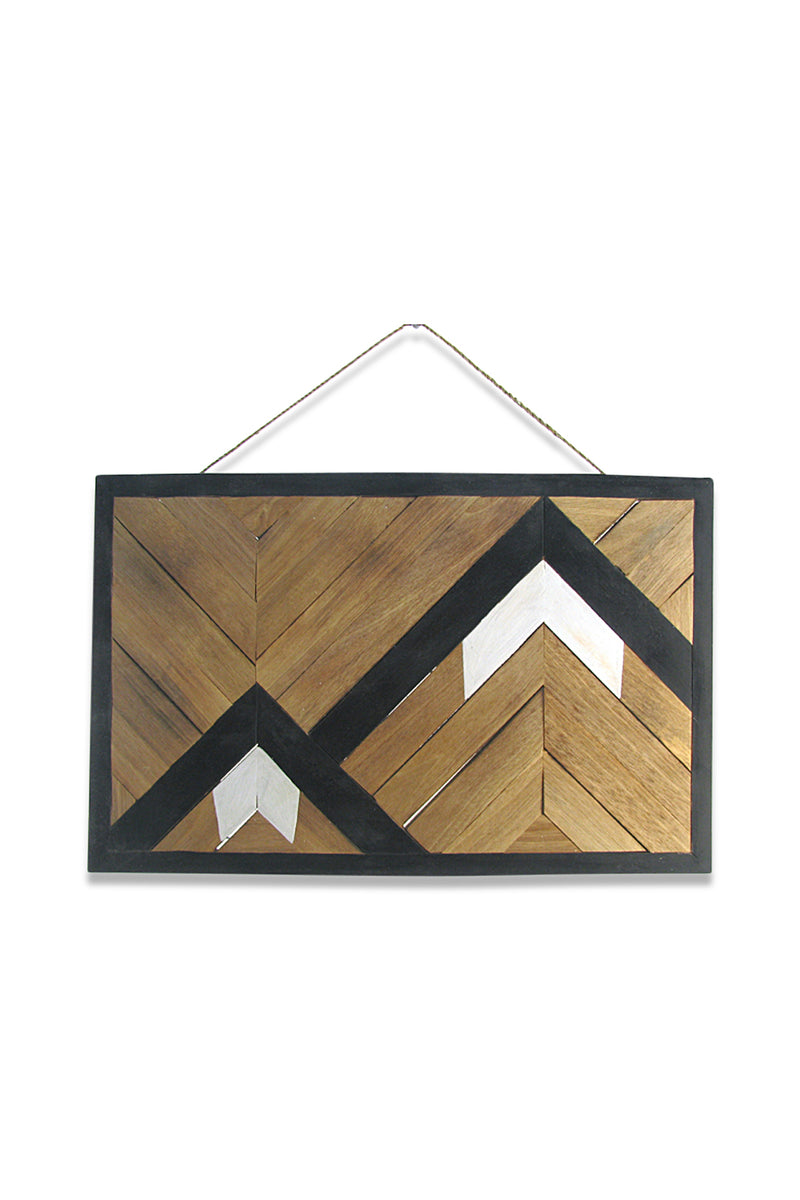 Mountainside Parquetry Wall Plaque