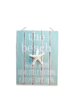Beach Starfish Wall Plaque
