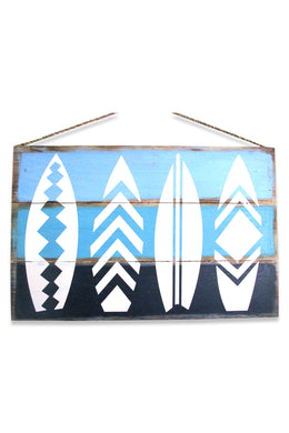 Surfboards Painted Blue Sign
