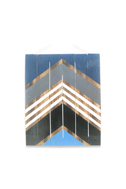 Blue Arrow Wooden Wall Plaque