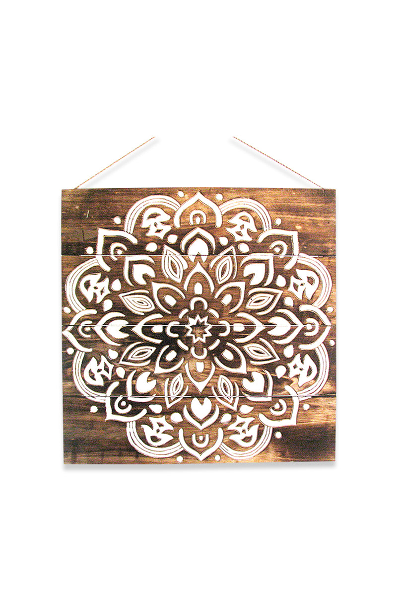 Carved Mandala Wall Plaque
