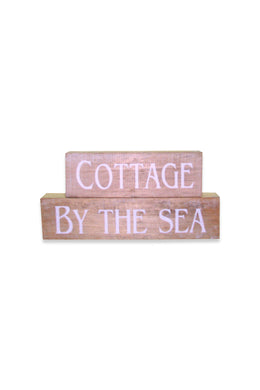 Cottage by the Sea Blocks Sign