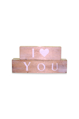 I Love You Blocks Sign