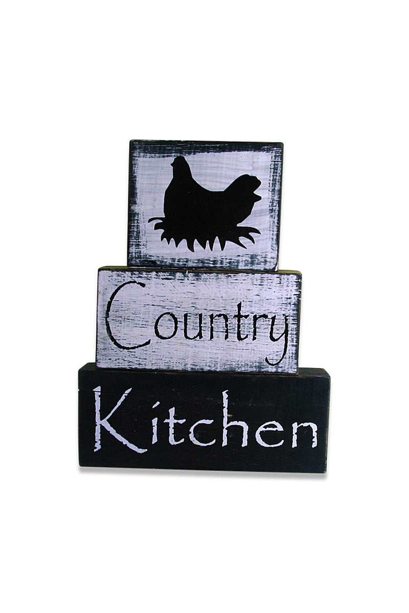 Country Kitchen Timber Wall Plaque