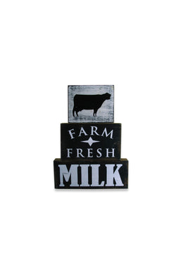 Farm Fresh Milk Timber Sign