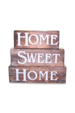 Home Sweet Home Blocks Sign
