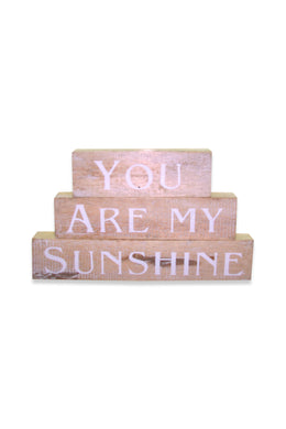 My Sunshine Timber Blocks Sign