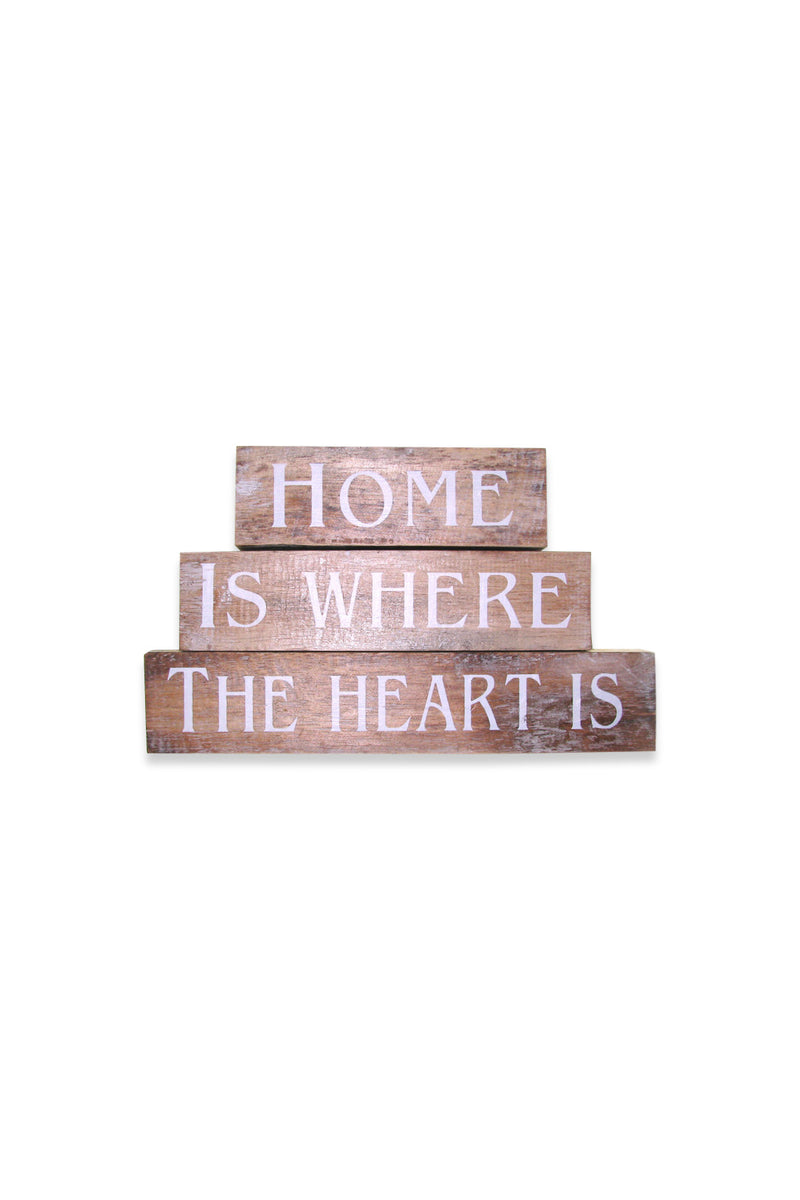 Home Is Where The Heart Is Blocks Sign