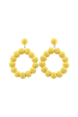 Statement Wrapped Yarn Hoop Earrings