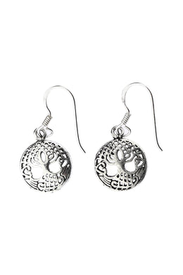 Celtic Tree of Life Silver Earrings