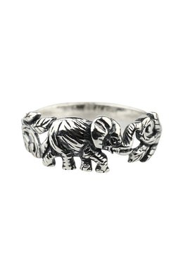 Elephant Vine Silver Ring