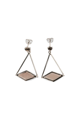 Statement Side Diamond Earrings