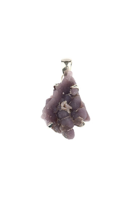 Raw Irregular Grape Chalcedony Pendant