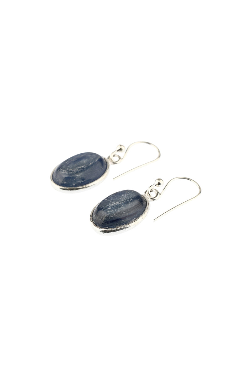 Rutile Round Droplets Silver Earrings