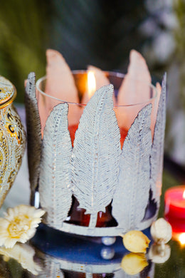 Feather Candle Holder