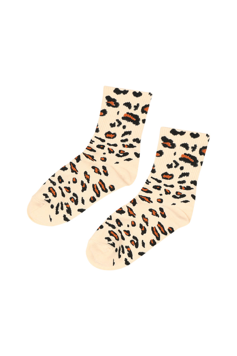 Animal Print Crew Socks