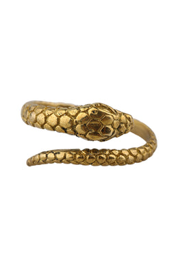 Brass Snake Wrap Ring