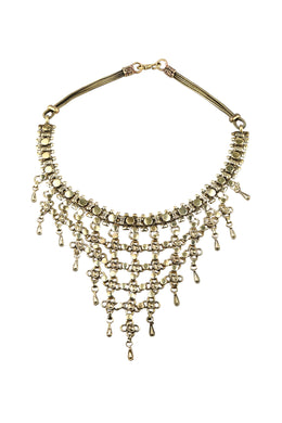 Statement Brass Layered Necklace