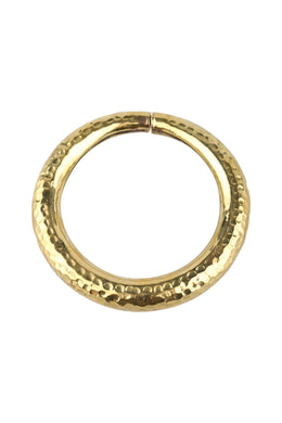 Large Pebbled Brass Bangle