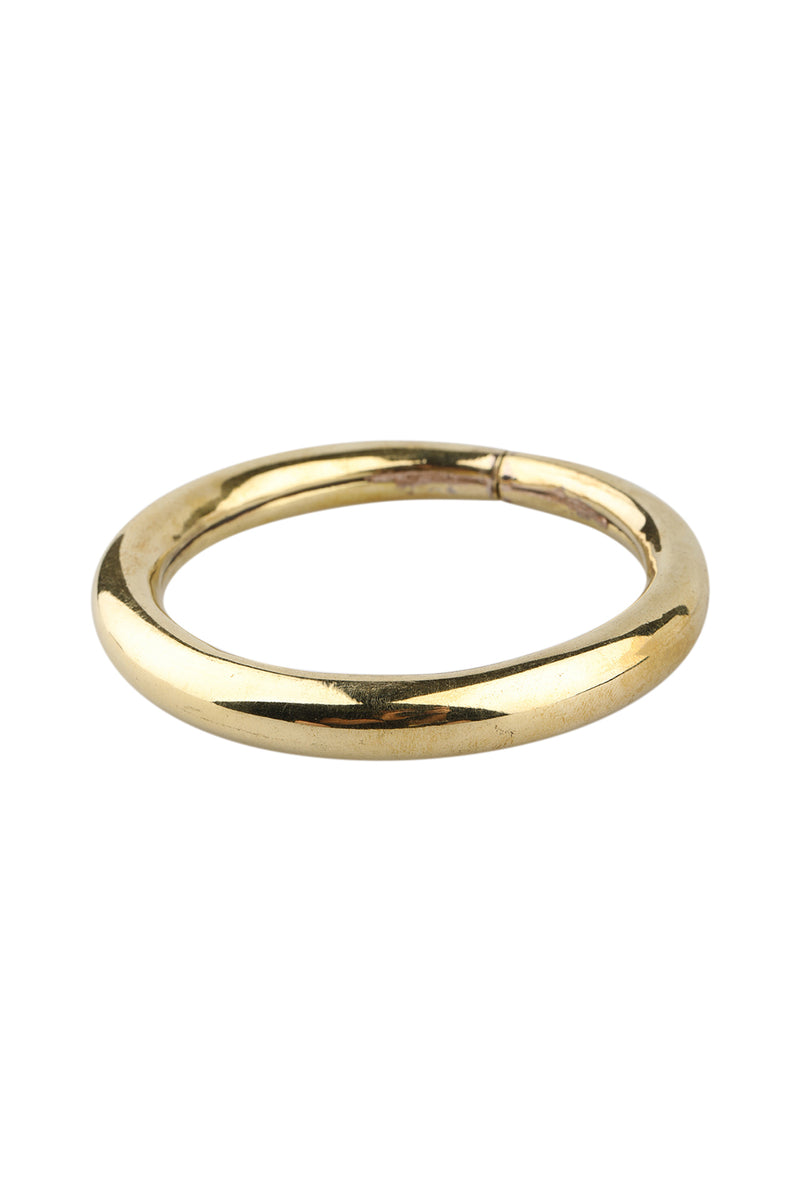 Wide Smooth Brass Bangle